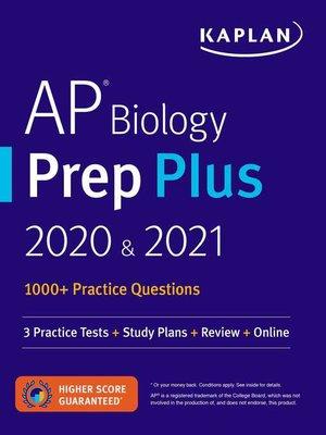 cover image of AP Biology Prep Plus 2020 & 2021