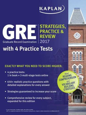 cover image of GRE 2017 Strategies, Practice & Review with 4 Practice Tests