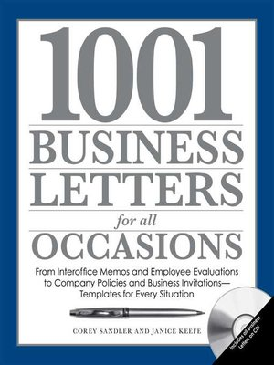 cover image of 1001 Business Letters for All Occasions
