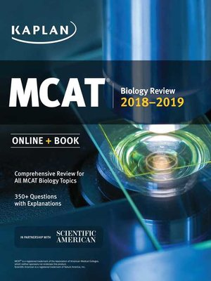 cover image of MCAT Biology Review 2018-2019