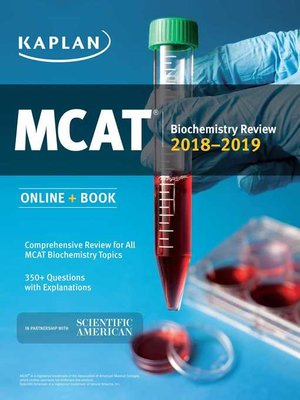cover image of MCAT Biochemistry Review 2018-2019