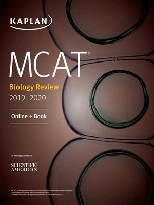 cover image of MCAT Biology Review 2019-2020