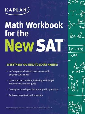 cover image of Kaplan Math Workbook for the New SAT