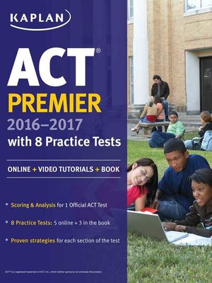 cover image of ACT Premier 2016-2017 with 8 Practice Tests