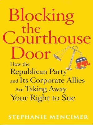 cover image of Blocking the Courthouse Door