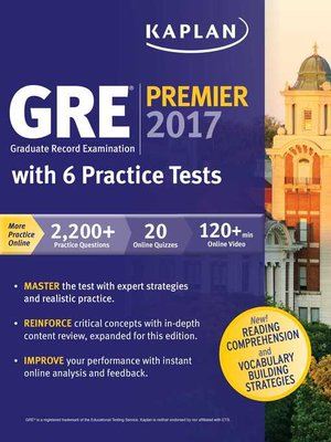 cover image of GRE Premier 2017 with 6 Practice Tests
