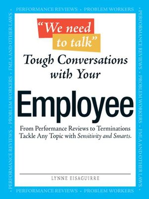 cover image of We Need to Talk--Tough Conversations With Your Employee