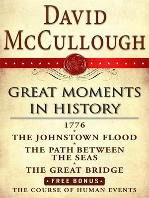 cover image of David McCullough Great Moments in History E-book Box Set