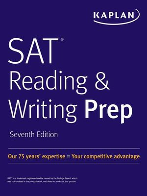 cover image of SAT Reading & Writing Prep