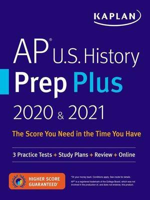 cover image of AP U.S. History Prep Plus 2020 & 2021