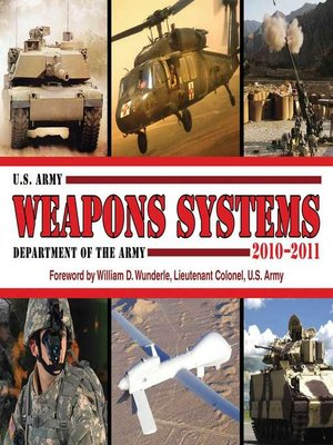 cover image of U.S. Army Weapons Systems 2010-2011