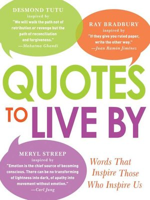 cover image of Quotes to Live By