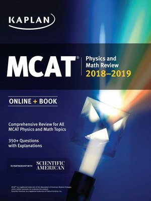 cover image of MCAT Physics and Math Review 2018-2019