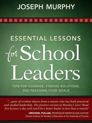 cover image of Essential Lessons for School Leaders