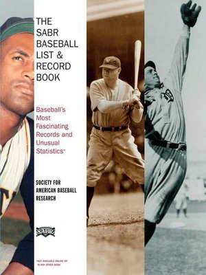 cover image of The SABR Baseball List & Record Book