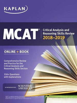 cover image of MCAT Critical Analysis and Reasoning Skills Review 2018-2019