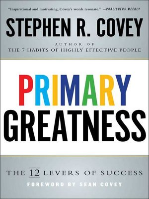 cover image of Primary Greatness