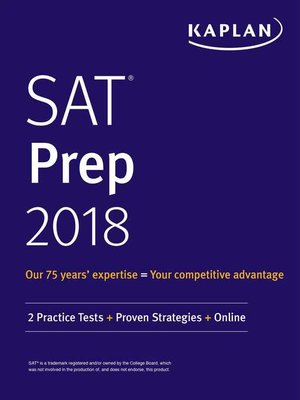 cover image of sat prep 2018