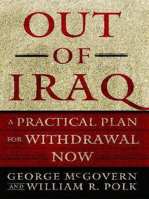 cover image of Out of Iraq