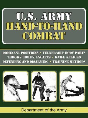cover image of U.S. Army Hand-to-Hand Combat