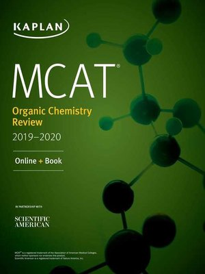 cover image of MCAT Organic Chemistry Review 2019-2020