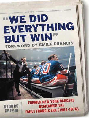 cover image of We Did Everything But Win