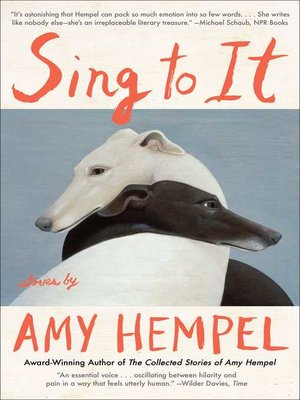 cover image of Sing to It
