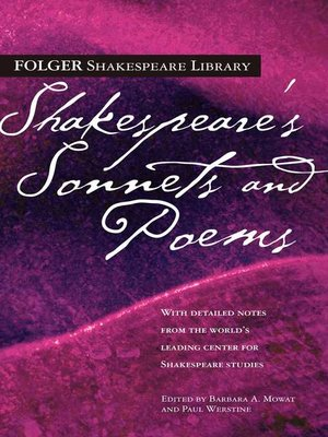 cover image of Shakespeare's Sonnets & Poems