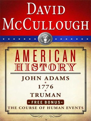 cover image of David McCullough American History E-book Box Set
