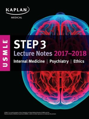 Usmle Step 3 Lecture Notes 2017 2018 By Kaplan Medical Overdrive