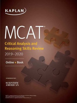 cover image of MCAT Critical Analysis and Reasoning Skills Review 2019-2020