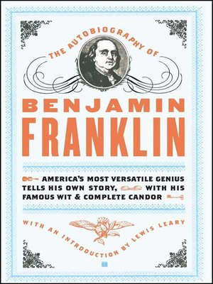 cover image of The Autobiography of Benjamin Franklin