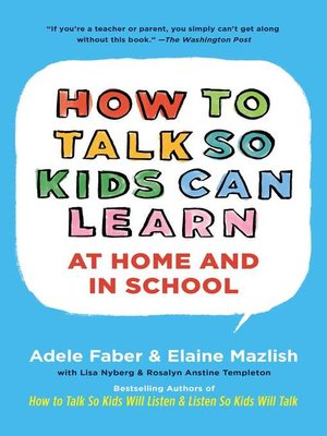 cover image of How to Talk So Kids Can Learn