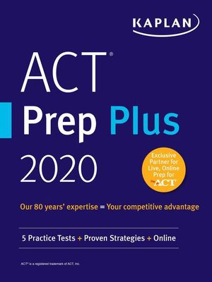 cover image of ACT Prep Plus 2020