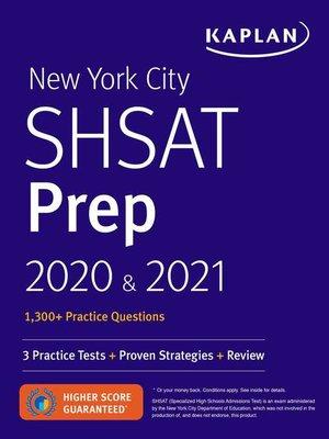 cover image of New York City SHSAT Prep 2020 & 2021