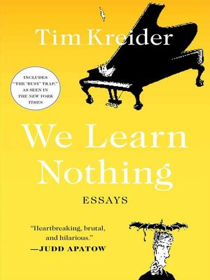 cover image of We Learn Nothing