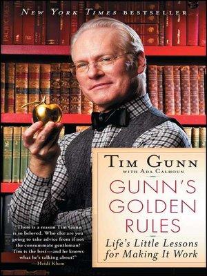 cover image of Gunn's Golden Rules