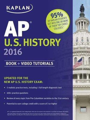 cover image of Kaplan AP U.S. History 2016