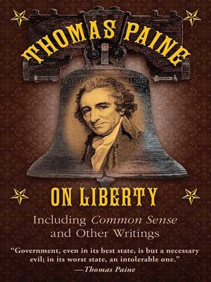 cover image of Thomas Paine on Liberty