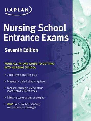 cover image of Nursing School Entrance Exams