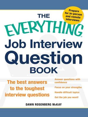 cover image of The Everything Job Interview Question Book