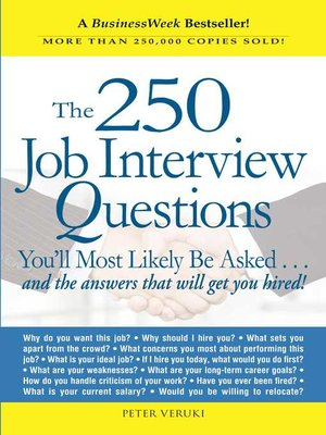 cover image of The 250 Job Interview Questions