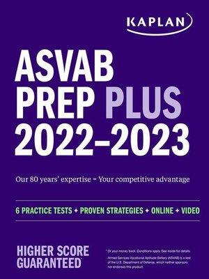 cover image of ASVAB Prep Plus 2022-2023