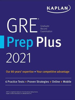 cover image of GRE Prep Plus 2021