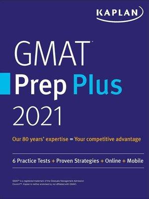 cover image of GMAT Prep Plus 2021