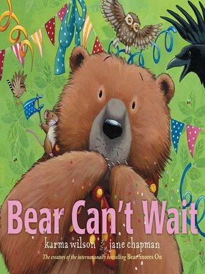 cover image of Bear Can't Wait