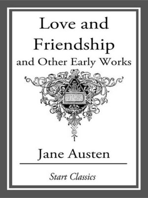 cover image of Love and Friendship, and Other Early Works