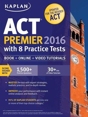 cover image of Kaplan ACT Premier 2016 with 8 Practice Tests