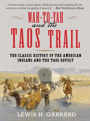 cover image of Wah-To-Yah and the Taos Trail