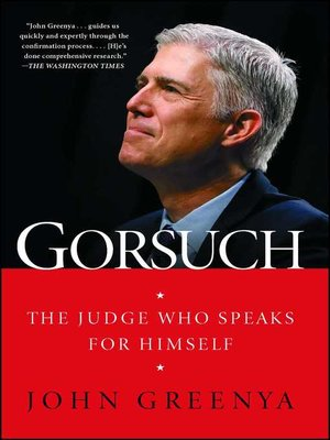 cover image of Gorsuch